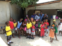 EHS students in Haiti